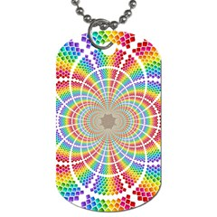 Color Background Structure Lines Dog Tag (two Sides)