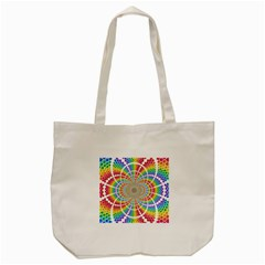 Color Background Structure Lines Tote Bag (cream)