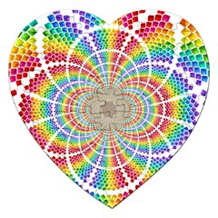 Color Background Structure Lines Jigsaw Puzzle (heart)