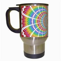 Color Background Structure Lines Travel Mugs (white)