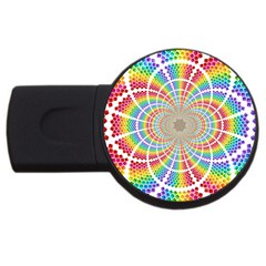 Color Background Structure Lines Usb Flash Drive Round (4 Gb)