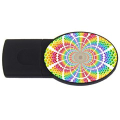 Color Background Structure Lines USB Flash Drive Oval (4 GB)