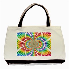 Color Background Structure Lines Basic Tote Bag