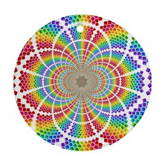 Color Background Structure Lines Round Ornament (two Sides)
