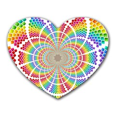 Color Background Structure Lines Heart Mousepads