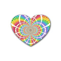 Color Background Structure Lines Heart Coaster (4 Pack)