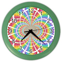 Color Background Structure Lines Color Wall Clocks