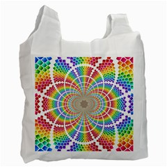 Color Background Structure Lines Recycle Bag (two Side)