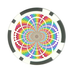 Color Background Structure Lines Poker Chip Card Guards (10 Pack)