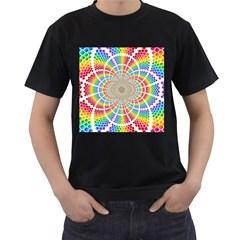 Color Background Structure Lines Men s T Shirt (black)