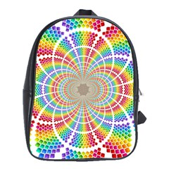 Color Background Structure Lines School Bags(large)