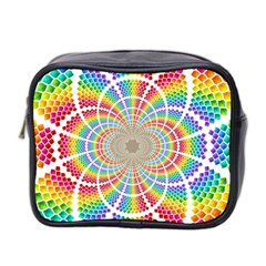 Color Background Structure Lines Mini Toiletries Bag 2 Side
