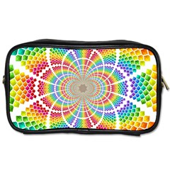 Color Background Structure Lines Toiletries Bags 2 Side