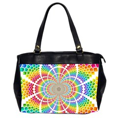 Color Background Structure Lines Office Handbags (2 Sides)