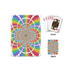 Color Background Structure Lines Playing Cards (mini)