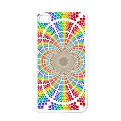 Color Background Structure Lines Apple Iphone 4 Case (white)
