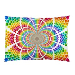 Color Background Structure Lines Pillow Case (two Sides)
