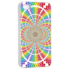 Color Background Structure Lines Apple Iphone 4/4s Seamless Case (white)