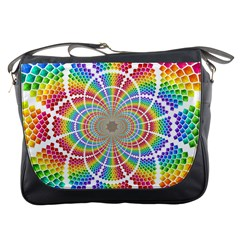 Color Background Structure Lines Messenger Bags