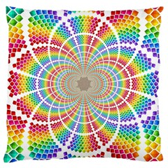 Color Background Structure Lines Large Cushion Case (one Side)