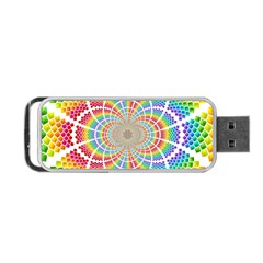 Color Background Structure Lines Portable Usb Flash (one Side)