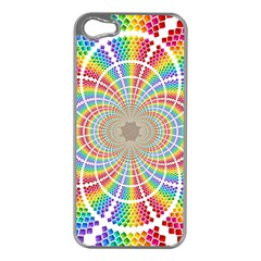Color Background Structure Lines Apple Iphone 5 Case (silver)