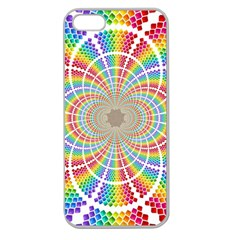 Color Background Structure Lines Apple Seamless Iphone 5 Case (clear)