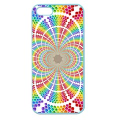 Color Background Structure Lines Apple Seamless Iphone 5 Case (color)