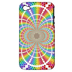 Color Background Structure Lines Apple Iphone 4/4s Hardshell Case (pc+silicone)