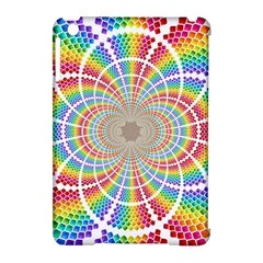 Color Background Structure Lines Apple Ipad Mini Hardshell Case (compatible With Smart Cover)