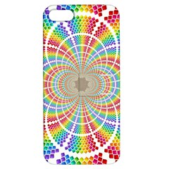 Color Background Structure Lines Apple Iphone 5 Hardshell Case With Stand