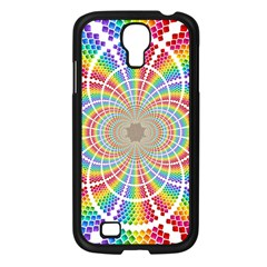 Color Background Structure Lines Samsung Galaxy S4 I9500/ I9505 Case (black)