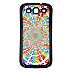 Color Background Structure Lines Samsung Galaxy S3 Back Case (black)