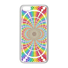 Color Background Structure Lines Apple Iphone 5c Seamless Case (white)