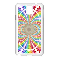 Color Background Structure Lines Samsung Galaxy Note 3 N9005 Case (white)