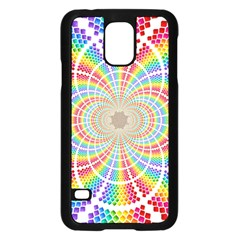Color Background Structure Lines Samsung Galaxy S5 Case (black)