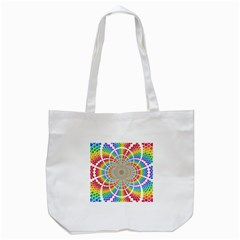 Color Background Structure Lines Tote Bag (white)