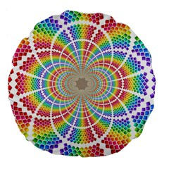 Color Background Structure Lines Large 18  Premium Flano Round Cushions