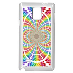 Color Background Structure Lines Samsung Galaxy Note 4 Case (White)