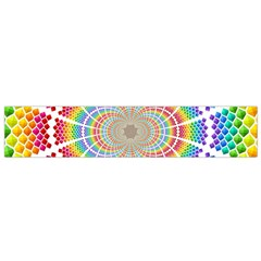 Color Background Structure Lines Flano Scarf (small)