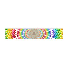 Color Background Structure Lines Flano Scarf (Mini)