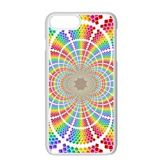 Color Background Structure Lines Apple Iphone 7 Plus White Seamless Case