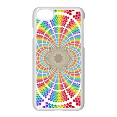 Color Background Structure Lines Apple Iphone 7 Seamless Case (white)