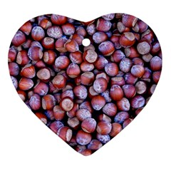 Hazelnuts Nuts Market Brown Nut Ornament (heart)