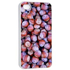 Hazelnuts Nuts Market Brown Nut Apple Iphone 4/4s Seamless Case (white)