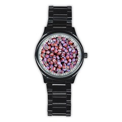 Hazelnuts Nuts Market Brown Nut Stainless Steel Round Watch