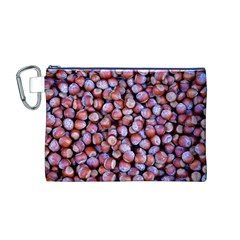 Hazelnuts Nuts Market Brown Nut Canvas Cosmetic Bag (m)