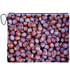Hazelnuts Nuts Market Brown Nut Canvas Cosmetic Bag (xxxl)