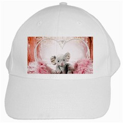 Elephant Heart Plush Vertical Toy White Cap