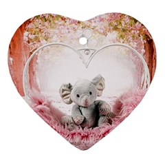 Elephant Heart Plush Vertical Toy Ornament (heart)